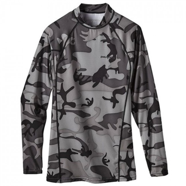 Patagonia Wetsuits R0 Long Sleeve Rash Guard Forest Camo