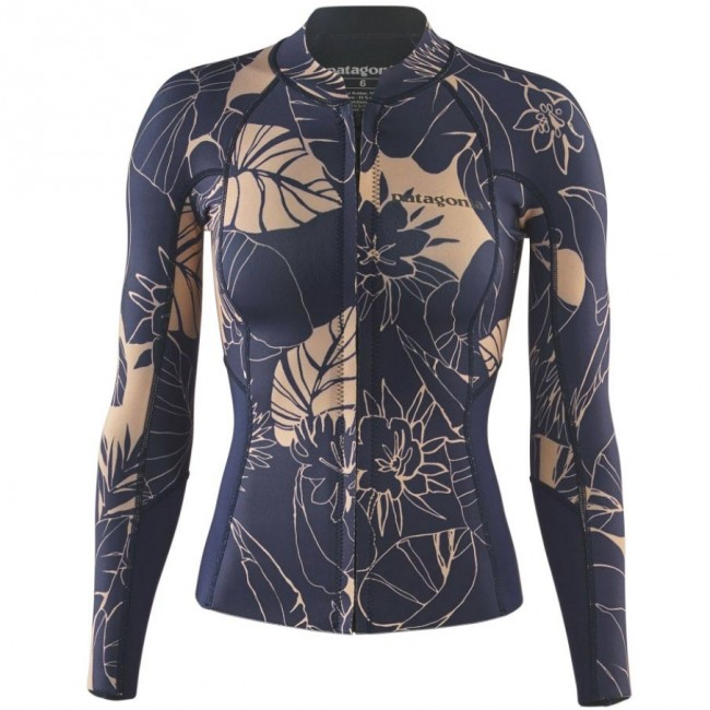 f3b32aed52 Patagonia Wetsuits Women s R1 Lite Yulex Chest Zip Jacket - Valley  Flora Rosewater