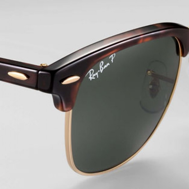 a8ff1e1be0 Ray-Ban Clubmaster Sunglasses - Mock Tortoise Arista Crystal Green ...