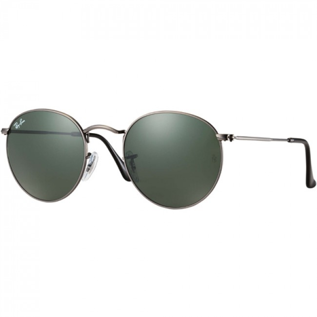44260d8547629 Ray-Ban Round Metal Sunglasses - Matte Gunmetal Crystal Green - Cleanline  Surf