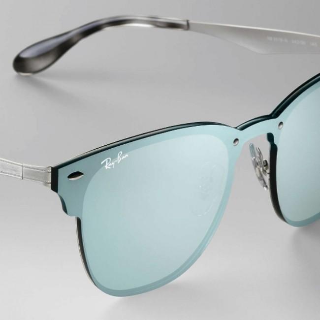 8cc8eb96ed4 ... australia ray ban blaze clubmaster sunglasses silver dark green silver  mirror afdb4 3520b ...
