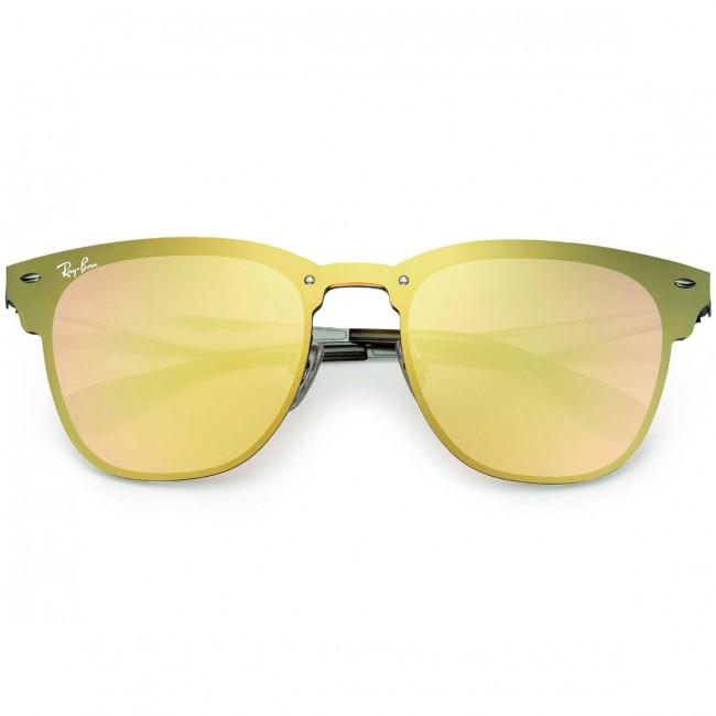 ca47c194185 Ray-Ban Blaze Clubmaster Sunglasses - Blue Dark Orange Mirror - Cleanline  Surf