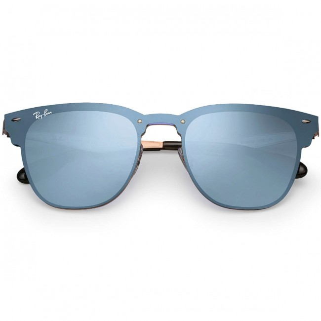 dd00c9403c Ray-Ban Blaze Clubmaster Sunglasses - Bronze Copper Blue Silver Mirror