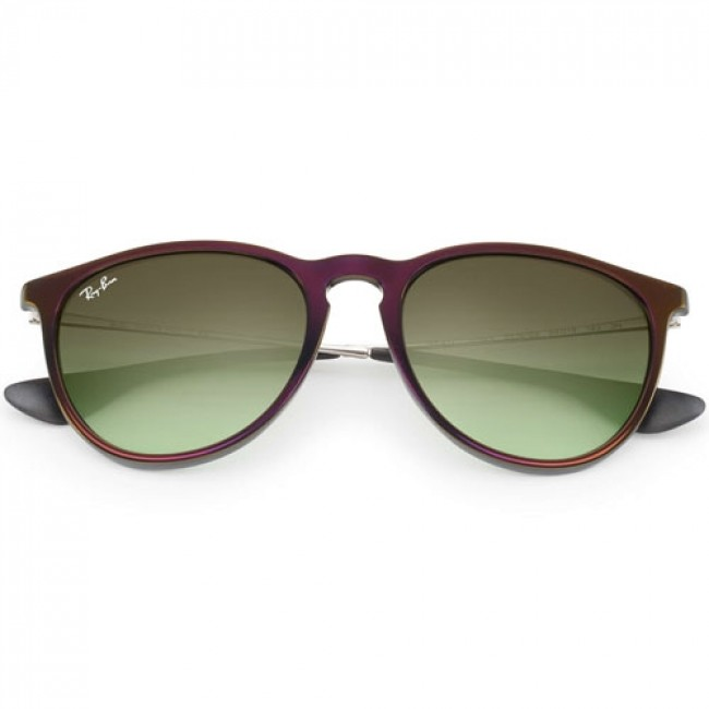 60e78c29d5 Ray-Ban Women's Erika Sunglasses - Black Red/Green Gradient Brown ...