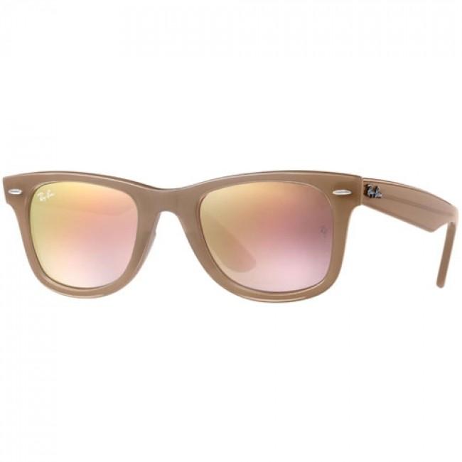 0cd1dc079d1 Ray-Ban Wayfarer Ease Sunglasses - Beige Grey Gradient Brown Mirror ...