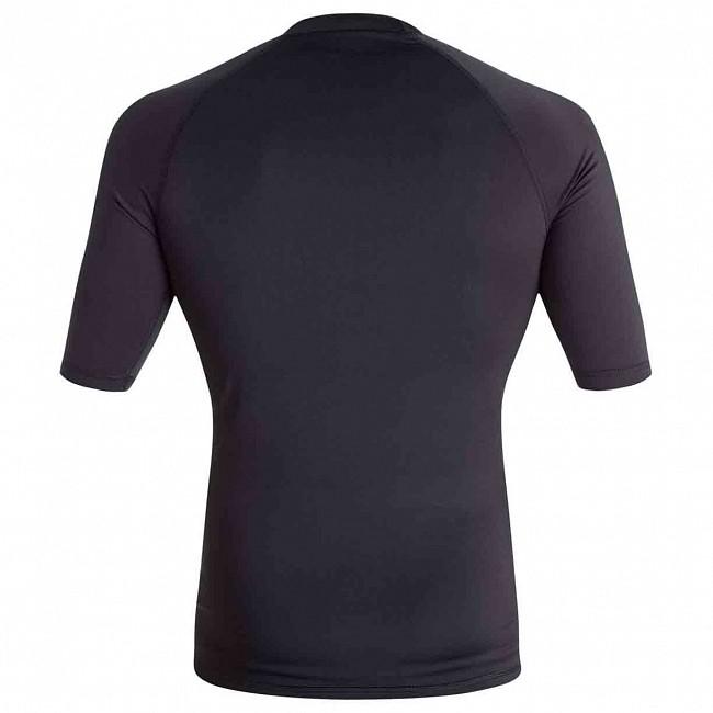 d1542dcb5cfe2 Quiksilver All Time Short Sleeve Rash Guard - Black - Cleanline Surf