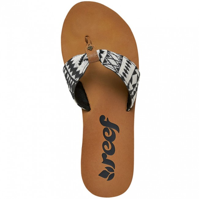 6db21b00bde5 Reef Women s Scrunch TX Sandals - Black White - Cleanline Surf