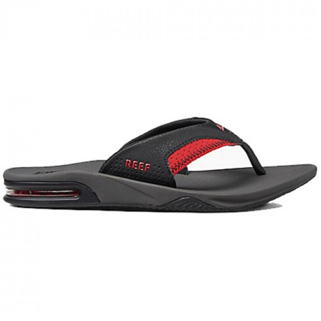 2a8504d6e0b Reef Fanning Sandals - Grey Black Red - Cleanline Surf