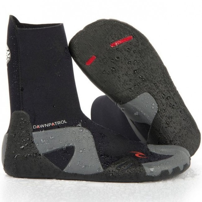 Boots, Booties New Mens Ripcurl Wetsuit 3mm Dawn Patrol Round Toe Boot Fins, Footwear & Gloves Size 10