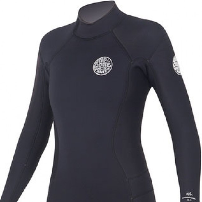 d850c84c0c ... authorized site aec8f 649a9 Rip Curl Womens Dawn Patrol 53 Back Zip  Wetsuit - Black ...