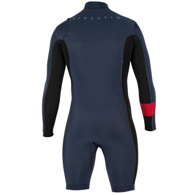 34a057e0e9 Rip Curl Aggrolite 2mm Long Sleeve Chest Zip Spring Suit - Cleanline ...