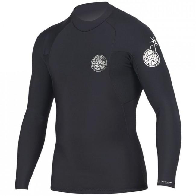0d841586ebd51 Rip Curl Wetsuits E-Bomb Pro 1.5mm Long Sleeve Jacket - Black - Cleanline  Surf