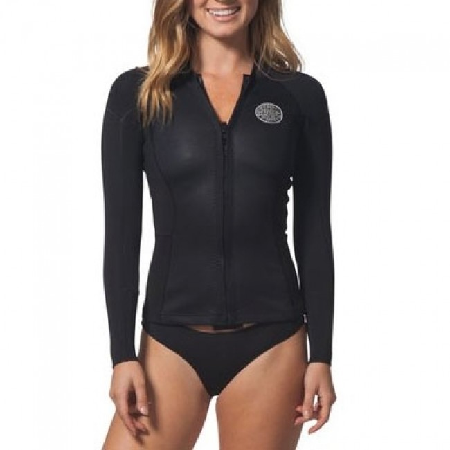 b953fe297f Rip Curl Wetsuits Women s Dawn Patrol 2mm Long Sleeve Jacket - Black