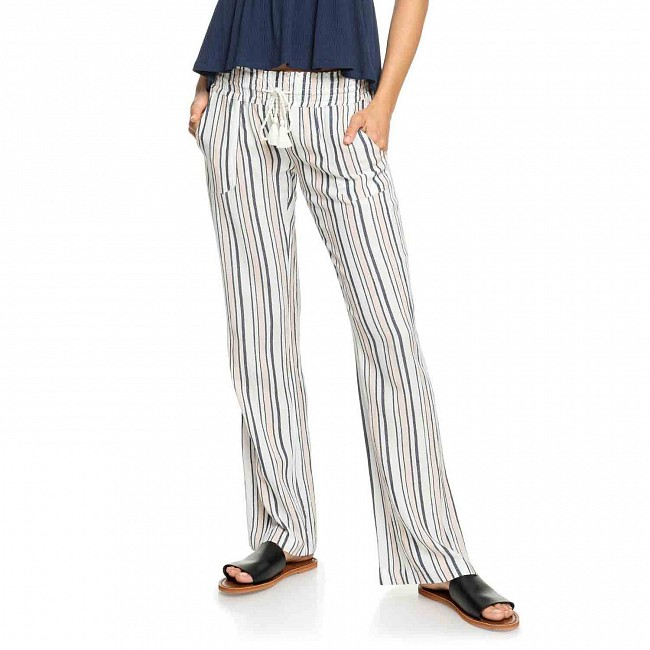 23eb9aa32f Roxy Women's Oceanside Beach Pants - Marshmallow Stripes - Cleanline Surf
