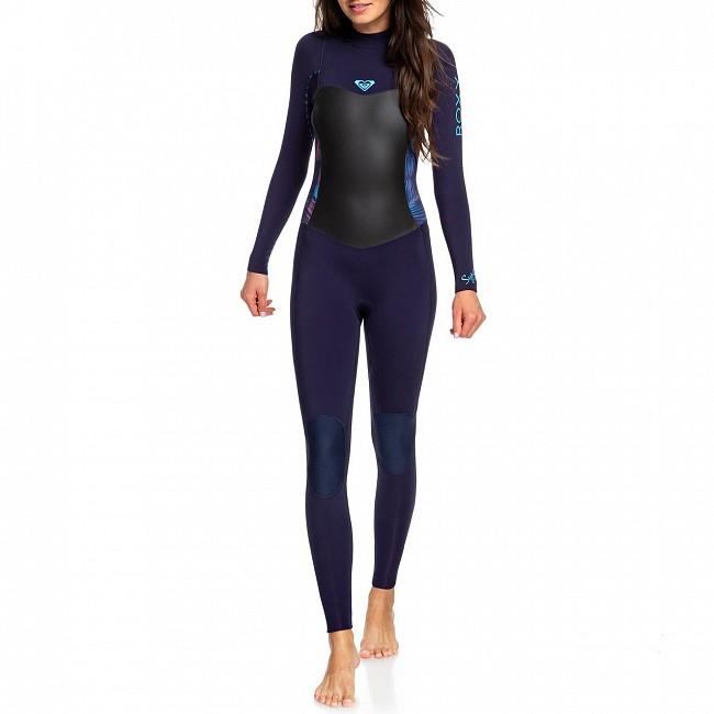 16dd484b8f2 Roxy Women's Syncro 3/2 Back Zip Wetsuit - Blue Ribbon / Coral - Front