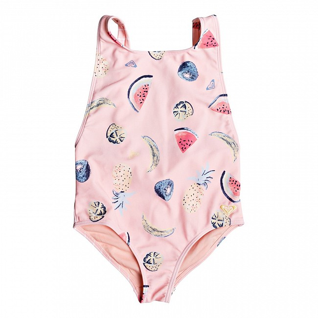 51190a06 Roxy Youth Girl's Splashing You One-Piece Swimsuit - Peach Bud Fruit Juice  - Cleanline Surf