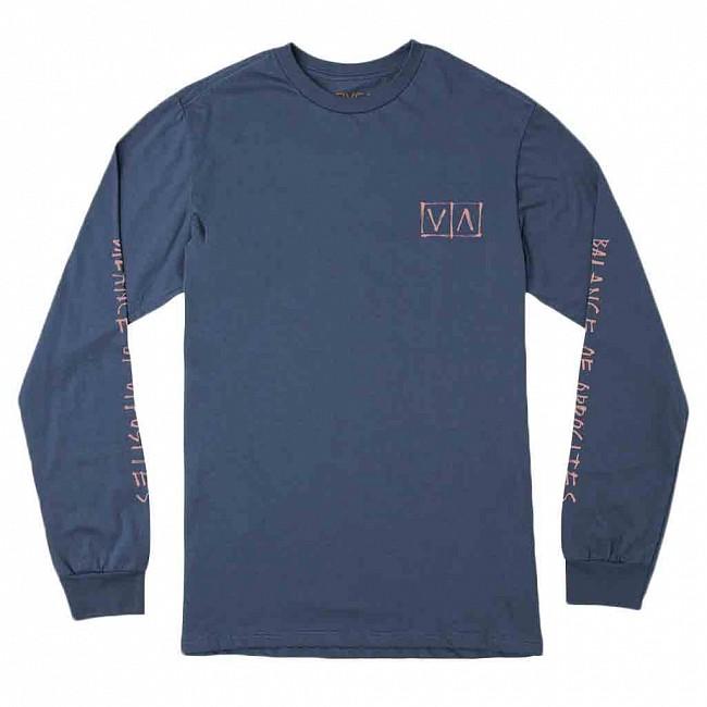 79f6d95fb RVCA Horton Box Long Sleeve T-Shirt - Seattle Blue - Cleanline Surf