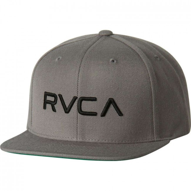 296ef9a6 RVCA Twill Snap Back III Hat - Grey - Cleanline Surf