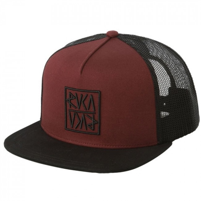 RVCA Women s Flip Trucker Hat - Burnt Red - Cleanline Surf 491ce22a760