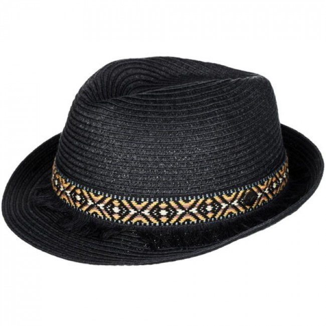 81755c9285f Roxy Women s Sentimiento Straw Fedora Hat - Black - Cleanline Surf