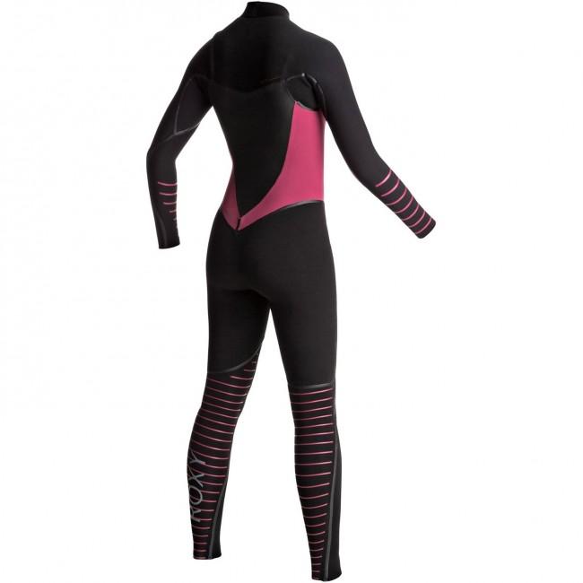 7945bfbd22 ... Jet Black Heather Blue. Roxy Women s Syncro Plus 4 3 Chest Zip Wetsuit  - Black Sangria