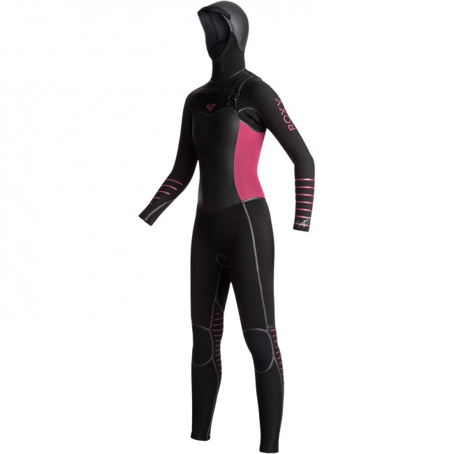 bd6ae28261170 Roxy Women s Syncro Plus 5 4 3 Hooded Chest Zip Wetsuit - Cleanline Surf