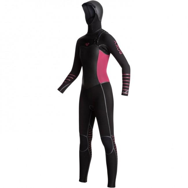 2190b6e3c9 Roxy Women's Syncro Plus 5/4/3 Hooded Chest Zip Wetsuit