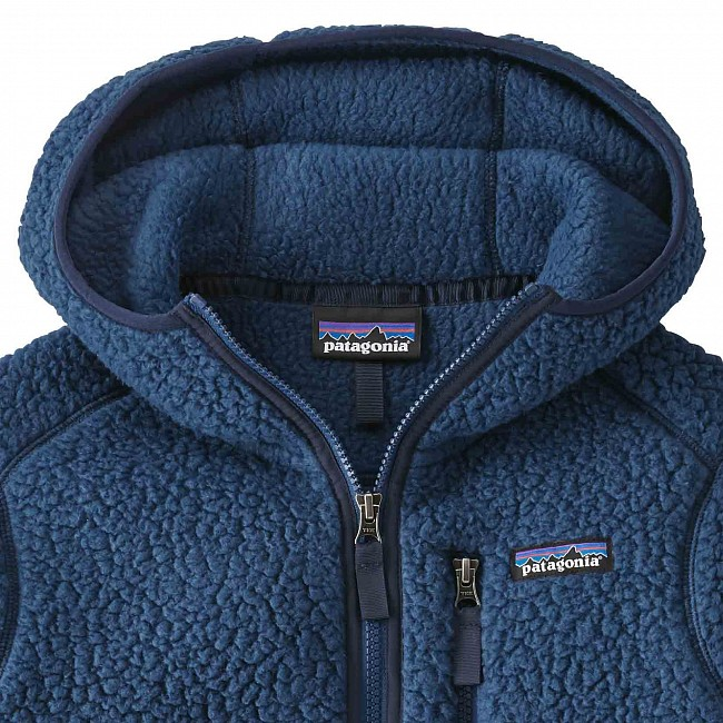 Patagonia Women s Retro Pile Fleece Hoody - Stone Blue - Cleanline Surf 8f6280535