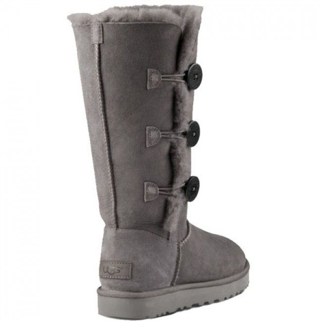 7fb4ae8daec UGG Australia Bailey Button Triplet II Boots - Grey