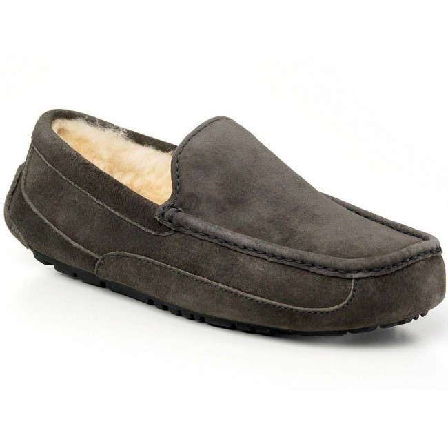 a6f03635d07 UGG Australia Men's Ascot Slippers - Charcoal