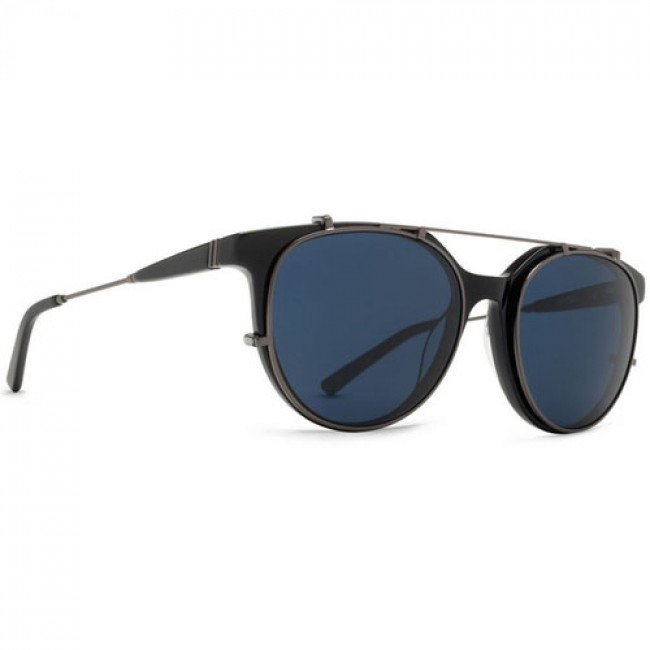 3d73b48827 Von Zipper Hyde Sunglasses - Black Gloss Satin Gunmetal Light Blue Vintage  - Cleanline Surf