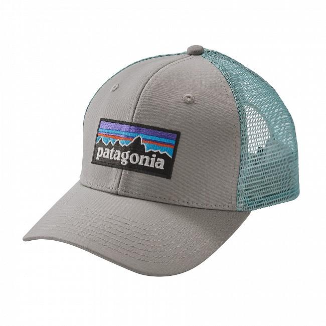 087c251e910349 Patagonia P-6 Trucker Hat - Drifter Grey/Dam Blue - Cleanline Surf