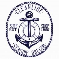 Cleanline Surf Anchor Sticker