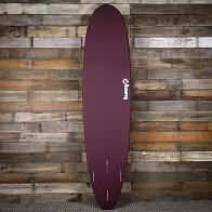 Torq Mini Longboard 8'0 x 22 x 3 Surfboard - Burgundy/White