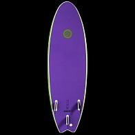 Gnaraloo Flounder Pounder Surfboard - Lime/Purple