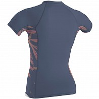 O'Neill Wetsuits Women's Side Print Short Sleeve Rash Guard - Mist/Faye