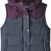 Patagonia Women's Bivy Down Hooded Vest - Smolder Blue/Deep Plum