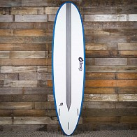 Torq Mod Fun TET-CS 7'6 x 21 1/2 x 2 7/8 Surfboard - White/Teal/Carbon Strip