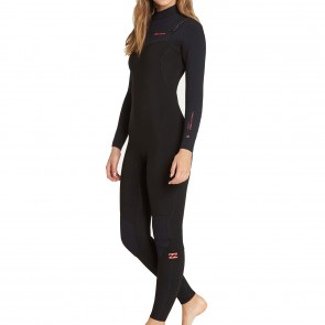 Billabong Women's Furnace Carbon 4/3 Chest Zip Wetsuit - Black