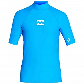 Billabong All Day Wave Performance Fit Short Sleeve Rashguard - Royal
