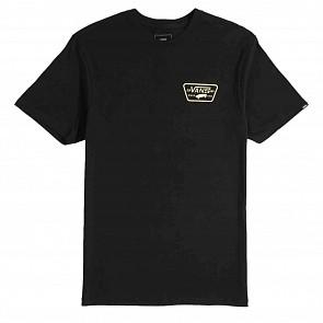 Vans Full Patch Back T-Shirt - Black/Sunny Lime