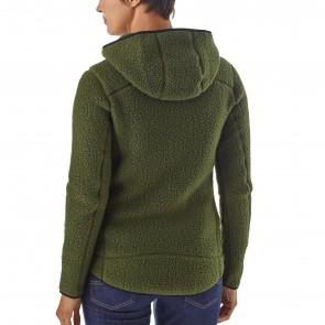 Patagonia Women's Retro Pile Fleece Hoody - Nomad Green