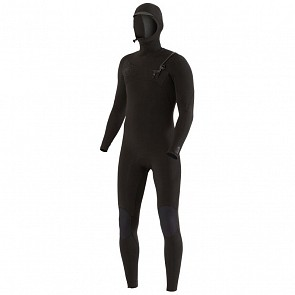 Vissla Seven Seas 4/3 Hooded Chest Zip Wetsuit - Stealth