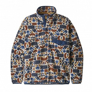 Patagonia Lightweight Synchilla Snap-T Fleece Pullover - Protected Peaks/Oatmeal Heather