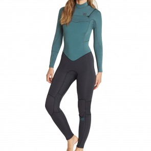 Billabong Women's Synergy 4/3 Chest Zip Wetsuit - Sugar Pine