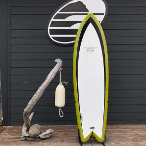 "Hynson Black Knight quad 6'2"" 21 1/8 x 2 1/2 Used Surfboard - Top"