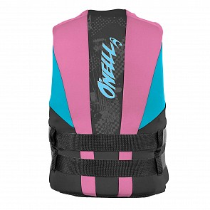 O'Neill Youth Reactor USCG PFD Vest - Black/Petrol/Turquoise