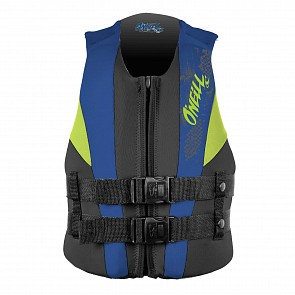 O'Neill Youth Reactor USCG PFD Vest - Black/Pacific/DayGlo