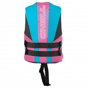 O'Neill Child Reactor USCG PFD Vest - Petrol/Turquoise/Pink