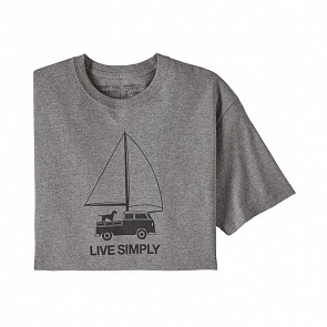 Patagonia Live Simply Wind Powered T-Shirt - Gravel Heather